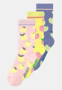 Ewers - LEMON 3 PACK - Socks - rosa/gelb/blau - 0