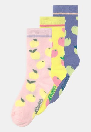 LEMON 3 PACK - Socks - rosa/gelb/blau