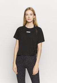 Puma - PAMELA REIF X PUMA BOXY TEE - T-Shirt print - black - 0