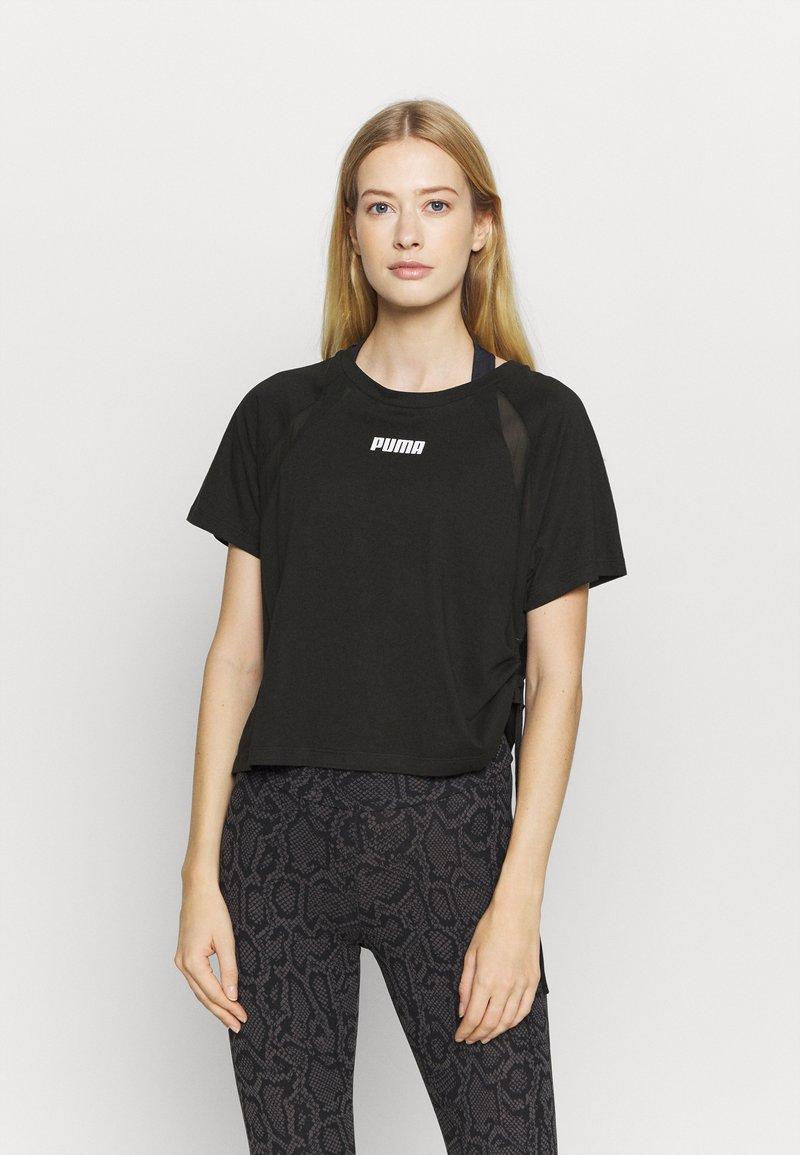 Puma - PAMELA REIF X PUMA BOXY TEE - T-Shirt print - black