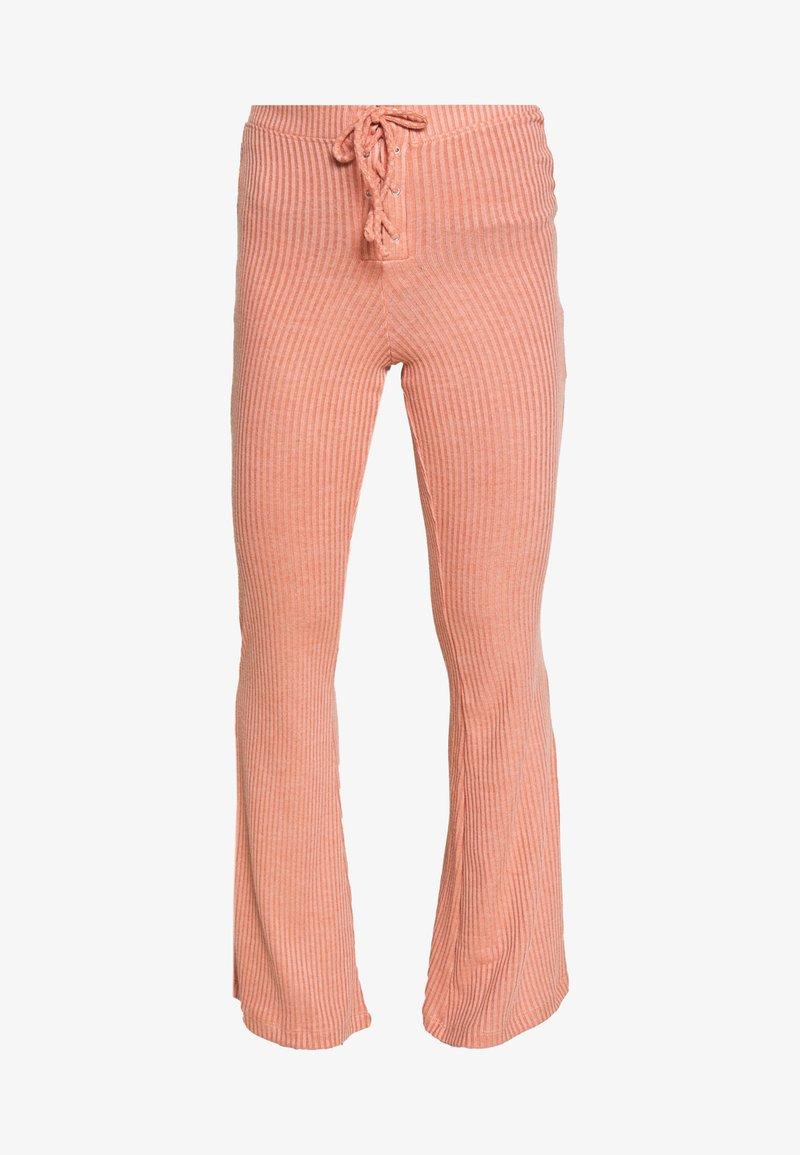 Topshop Petite Lace Up Flare Pantalones Rust Coral Zalando Es