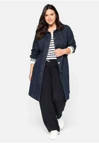 Sheego - Short coat - dark blue denim - 1