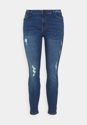 VMHANNA - Skinny džíny - medium blue denim