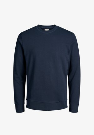 JJEHOLMEN CREW NECK - Bluza - dark-blue denim