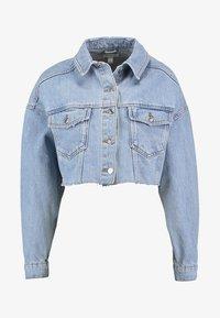 Topshop - HACKED OFF CROP - Denim jacket - blue denim - 3
