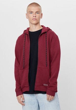 PLÜSCHJACKE - Zip-up hoodie - bordeaux