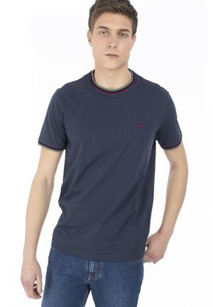 CON COLLO COSTINA  - T-shirt basic - blu scuro