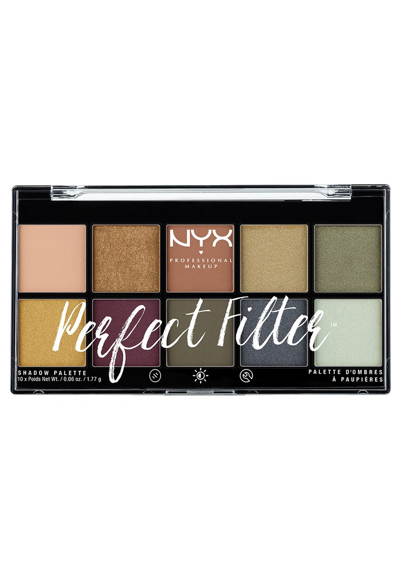 Nyx Professional Makeup - PERFECT FILTER SHADOW PALETTE - Paleta cieni - 3 olive you