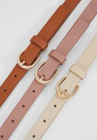 Anna Field - 3 PACK - Waist belt - cognac/rose/beige - 5