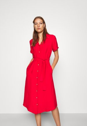 SHORT SLEEVE DRESS - Košilové šaty - rio red