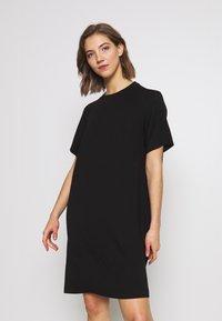 Monki - KARINA DRESS - Jersey dress - black - 0