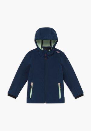GIRL FIX HOOD - Soft shell jacket - blue