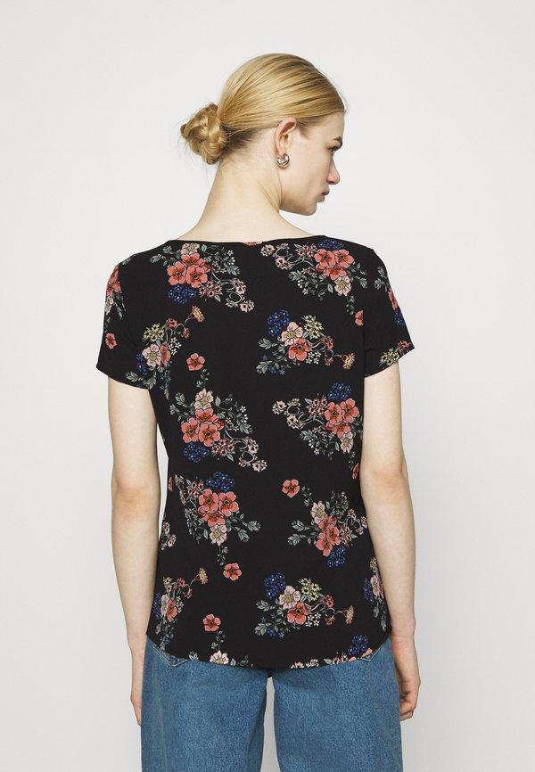 Vero Moda VMSAGA - T-shirt z nadrukiem - black/czarny VBQJ