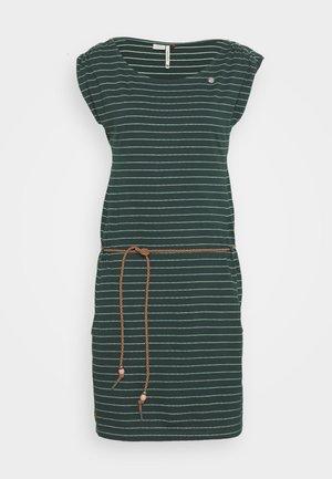 CHEGO - Žerzejové šaty - dark green