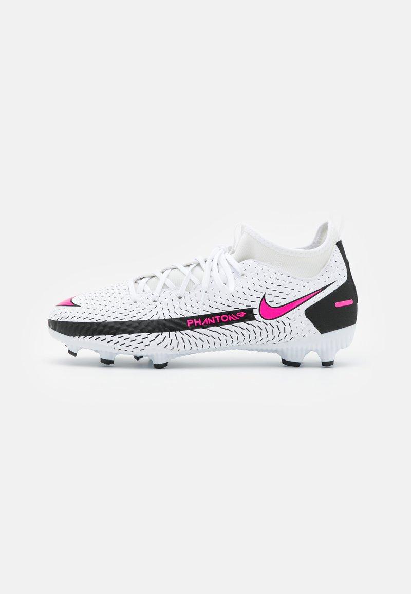 Nike Performance - JR PHANTOM GT ACADEMY DF FG/MG UNISEX - Moulded stud football boots - white/pink blast/black