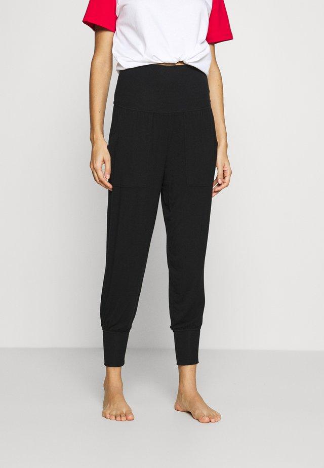 REAL FREE FOLDOVER JOGGER - Pyjama bottoms - true black