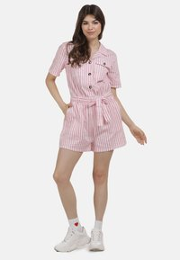 myMo - JUMPER - Jumpsuit - pink weiss - 1