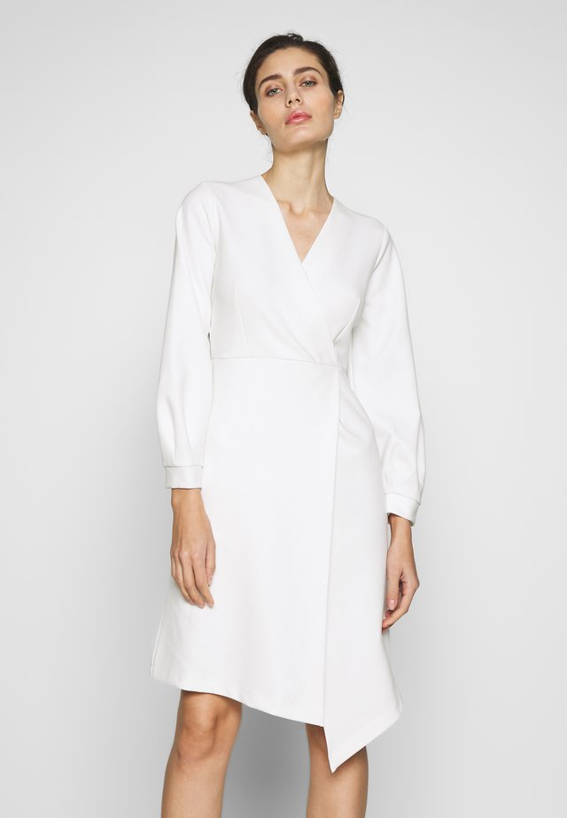 CLOSET LONG SLEEVE WRAP DRESS - Shift dress - ivory