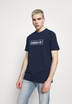 LINEAR LOGO TEE - Camiseta estampada - collegiate navy