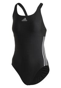 adidas Performance - GLAM-ON SHINY 3-STRIPES SWIMSUIT - Swimsuit - black - 8