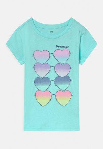 GIRL - Print T-shirt - bleached aqua