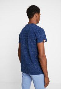 Superdry - ORANGE LABEL VINTAGE EMBROIDERY TEE - Basic T-shirt - faux indigo space dye - 2