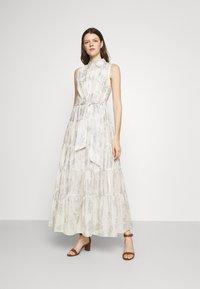 Lauren Ralph Lauren - PUJA SLEEVELESS DAY DRESS - Maxi dress - white/silver - 0