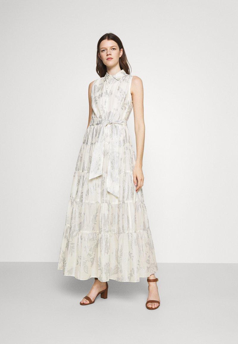 Lauren Ralph Lauren - PUJA SLEEVELESS DAY DRESS - Maxi dress - white/silver