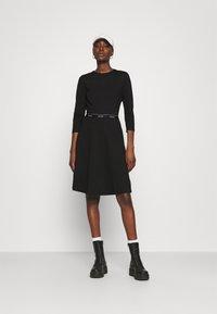 Calvin Klein - MILANO DRESS - Žerzejové šaty - black - 1