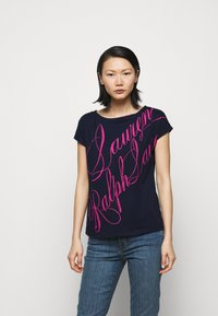 Lauren Ralph Lauren - UPTOWN - Print T-shirt - french navy - 0