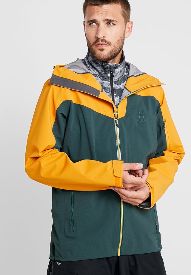 STIPE JACKET MEN - Snowboardjacka - mineral/desert yellow