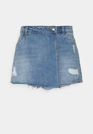 ONLTEXAS LIFE  - Denim shorts - light blue denim