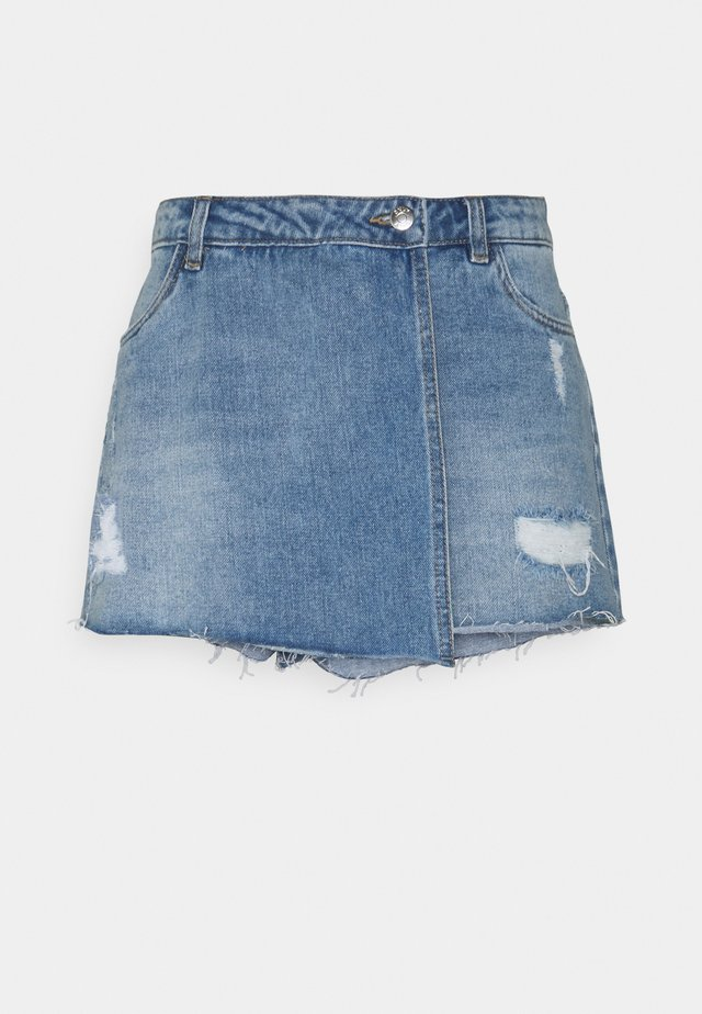 ONLTEXAS LIFE  - Shorts di jeans - light blue denim