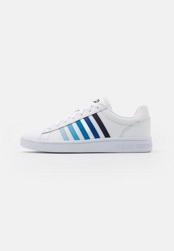 COURT WINSTON - Trainers - white/blue gradient