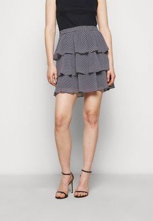 MINI FLORAL - Mini skirt - blue