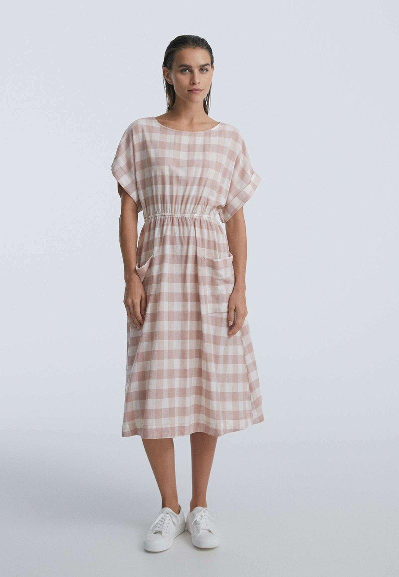 OYSHO - GINGHAM - Day dress - light pink