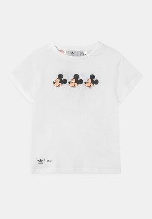 MICKEY MOUSE TEE UNISEX - Print T-shirt - white