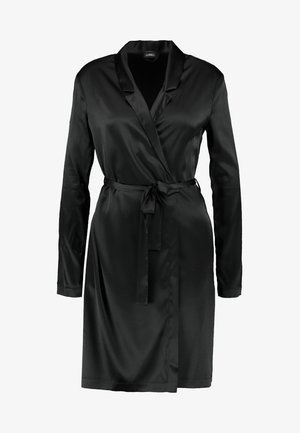 REWARD SHORT ROBE - Dressing gown - black