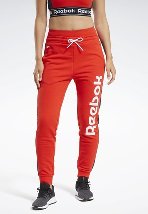 TRAINING ESSENTIALS LINEAR LOGO JOGGERS - Pantalon de survêtement - red