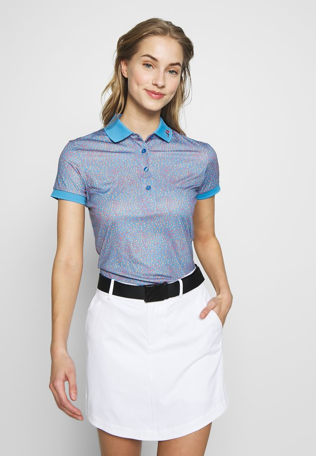 TOUR TECH PRINT - Sports shirt - lake blue