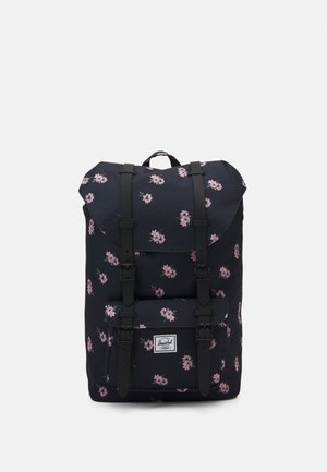 HERSCHEL LITTLE AMERICA MID VOLUME - Batoh - black ash/rose