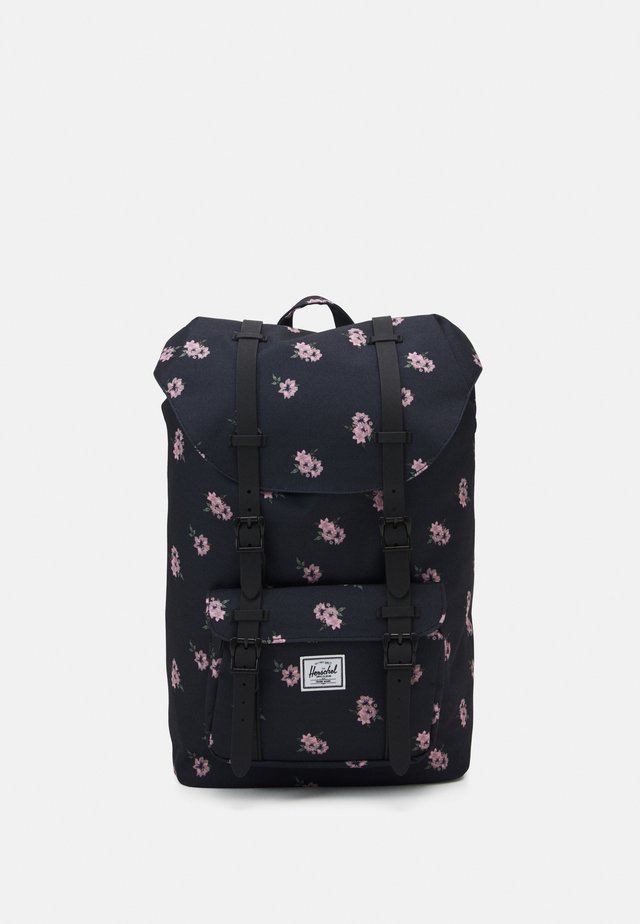 HERSCHEL LITTLE AMERICA MID VOLUME - Tagesrucksack - black ash/rose