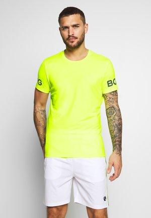 TEE - Printtipaita - safety yellow