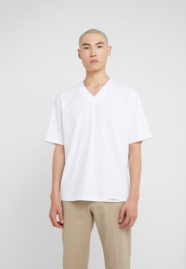 OVERSIZED BOXY VNECK TEE - T-shirt basic - optic white
