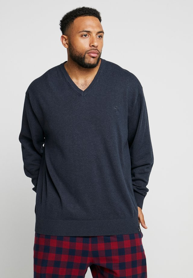 V-NECK - Jumper - navy melane