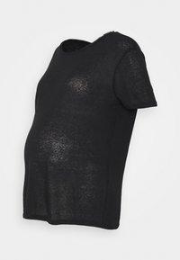 Pieces Maternity - PCMSORAYA TEE - Basic T-shirt - black - 0