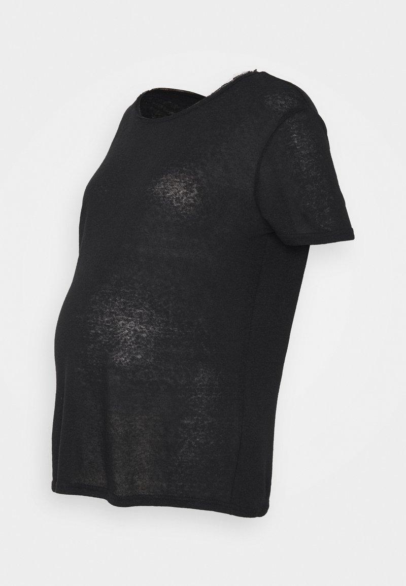 Pieces Maternity - PCMSORAYA TEE - Basic T-shirt - black