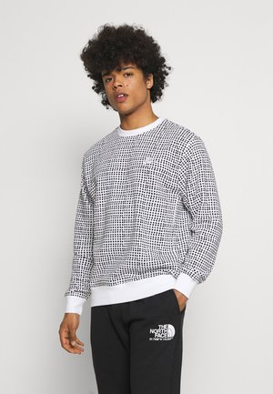 CLUB CREW GRID - Sweatshirt - white