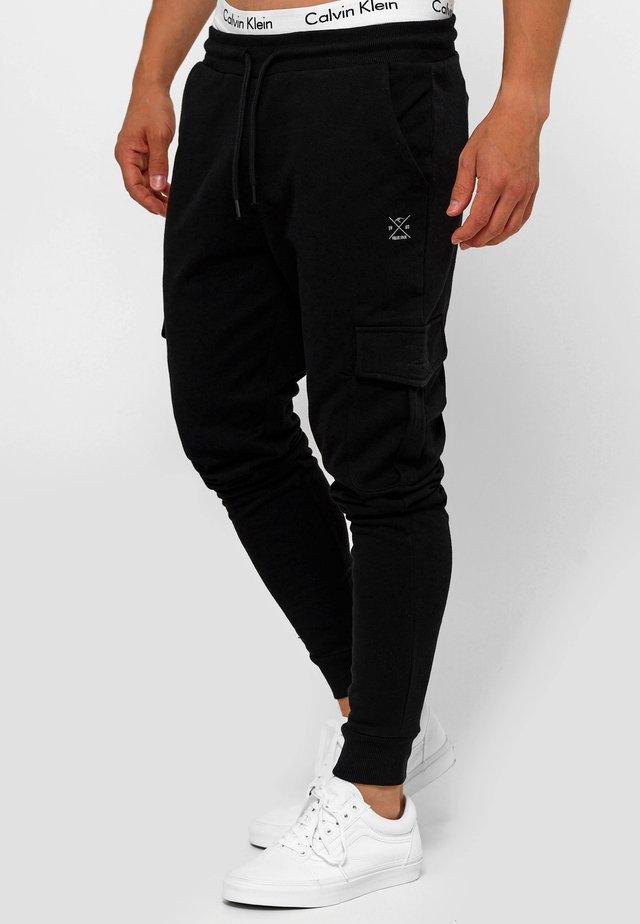 BENDNER - Pantalones cargo - black