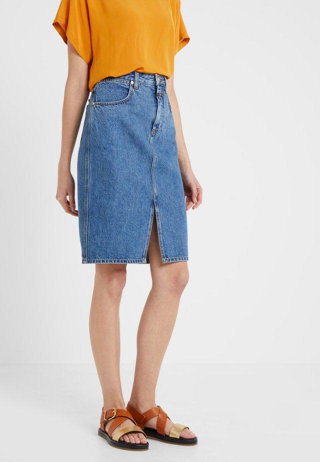 EMMETT - Spódnica ołówkowa  - mid blue